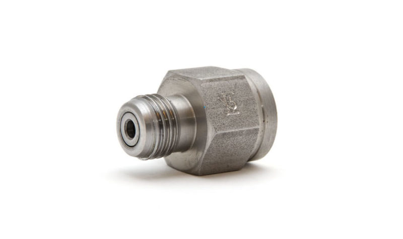 """Hydrotech adapter 1/4"""" BSP for connecting external high pressure module to Hydrotech 630 bar hose - Beamex spare parts"""