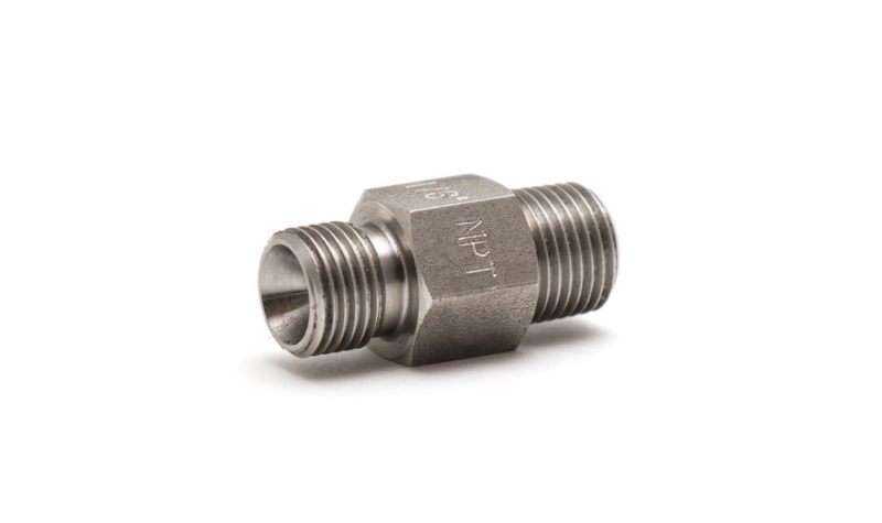 """Pressure connector 1/8"""" BSP male with 60 degree internal cone to 1/8"""" NPT male - Beamex spare parts and accessories"""