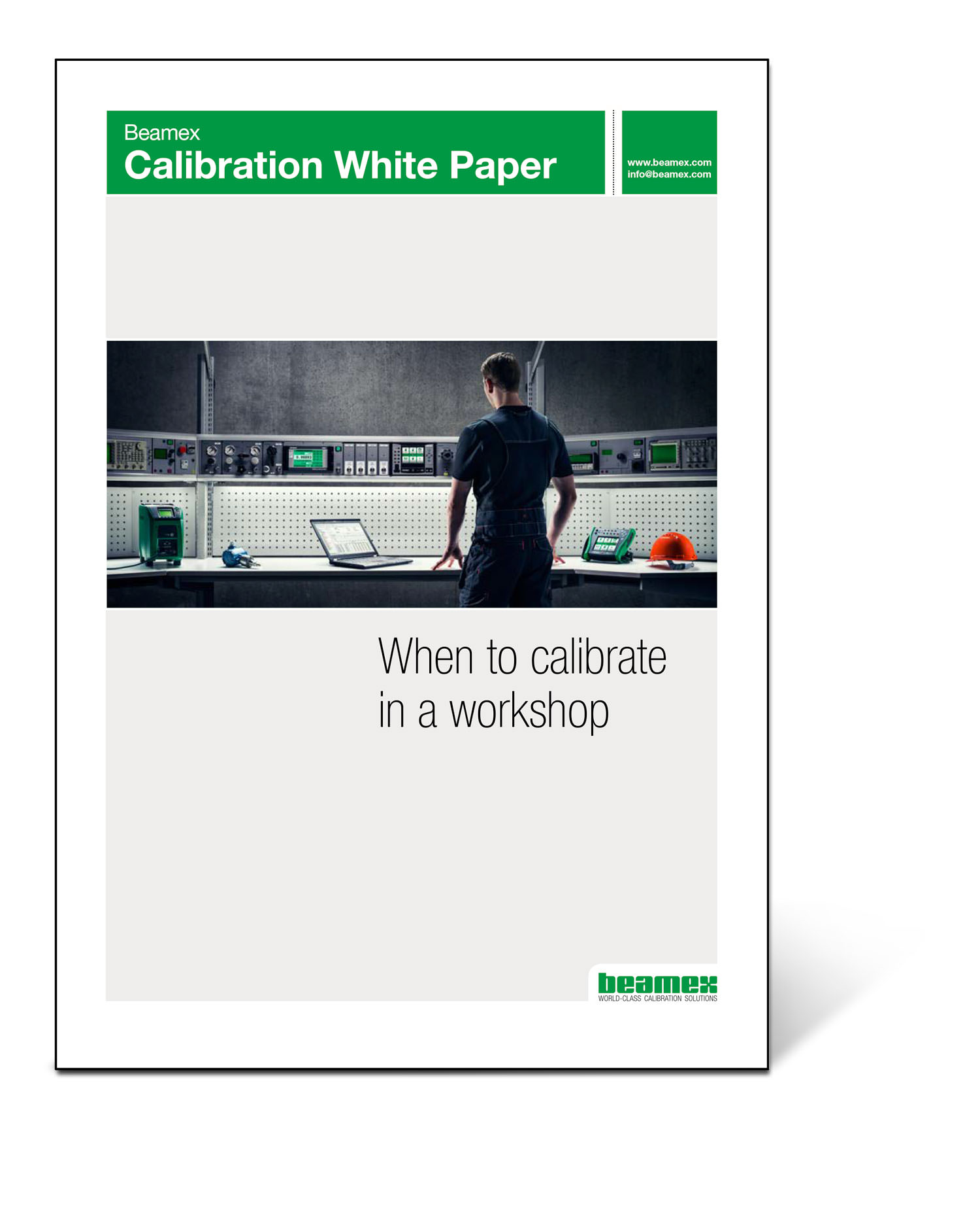 When to calibrate in a workshop, Beamex white paper