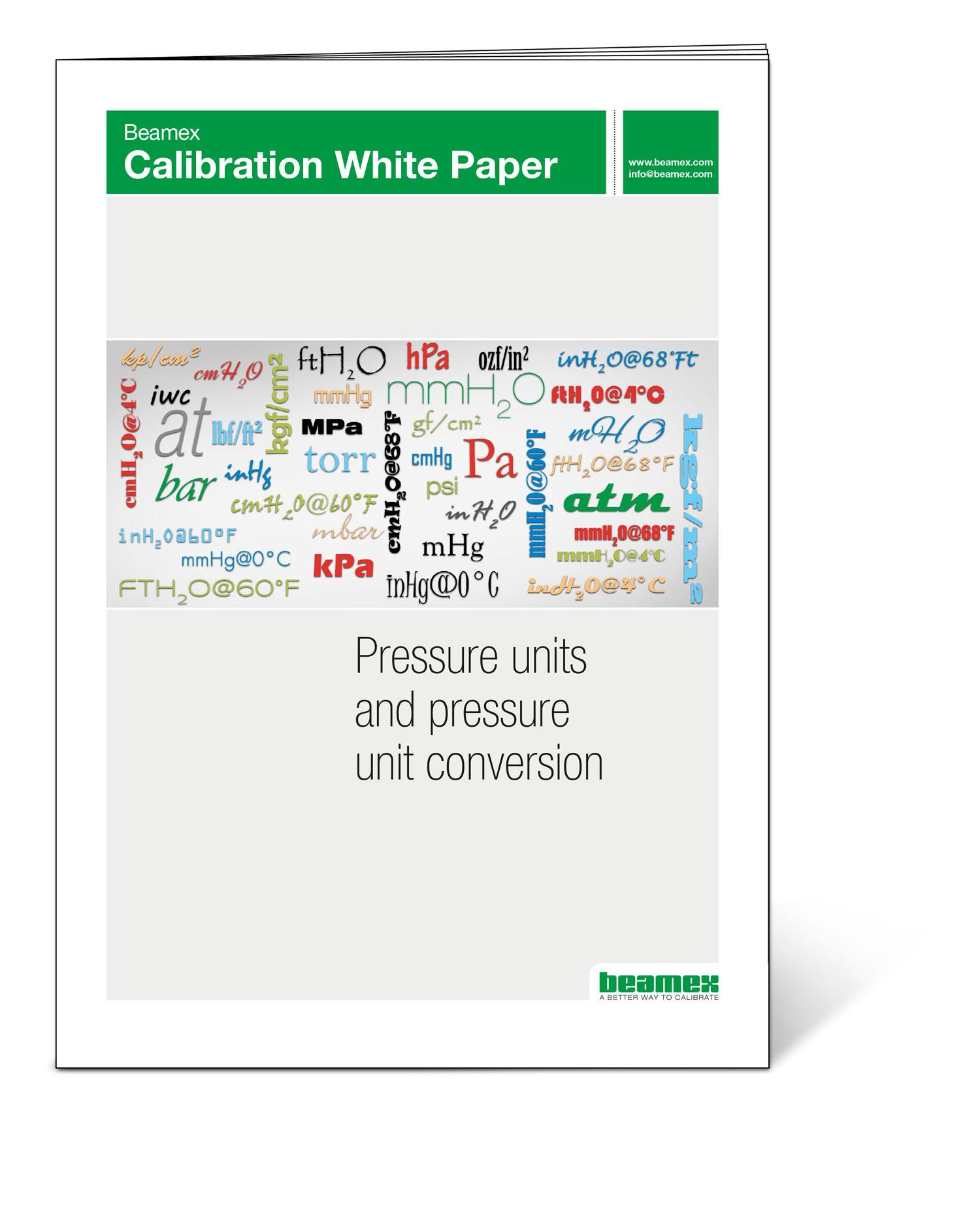 Pressure units and pressure unit conversion - Beamex white paper