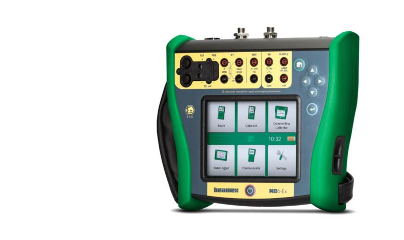 Intrinsically safe calibrator and communicator - Beamex MC6-Ex as a pressure calibrator