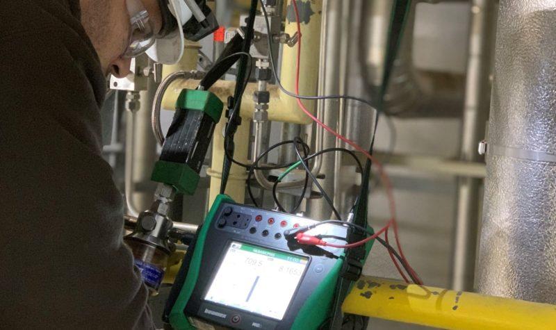 NECI technician using Beamex MC6 calibrator
